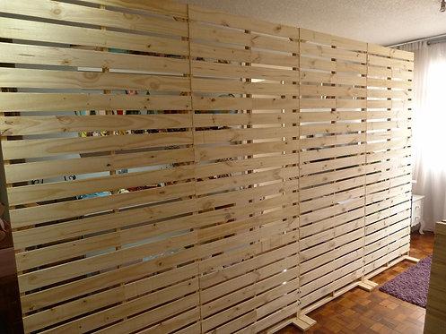 Painel - Pallets - Vazado - Cru - 2,20m x 3,60m - Desmontável