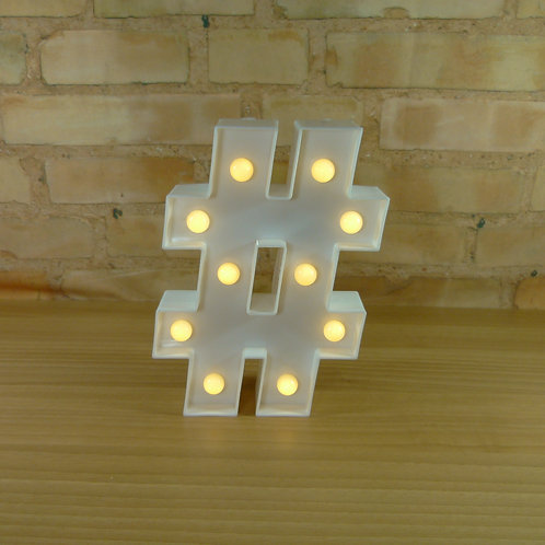 Hashtag - Branca - Luminosa