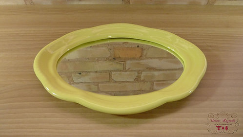 Bandeja - Amarela - Louça - Espelhada