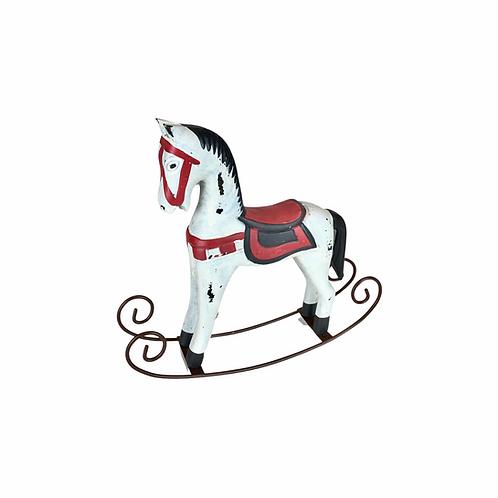 Enfeite - Cavalo - Branco e Vermelho