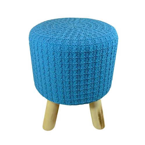 Puff - Azul Escuro - Crochê