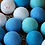 Thumbnail: Cordão de Luz - Tons de Azul - Led - 20 Lâmpadas - Tomada