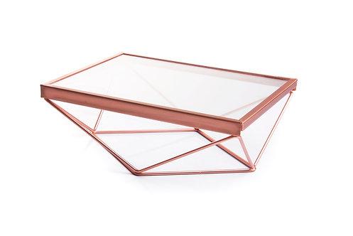 Bandeja - Cobre - Vidro - Geométrica - Pequena
