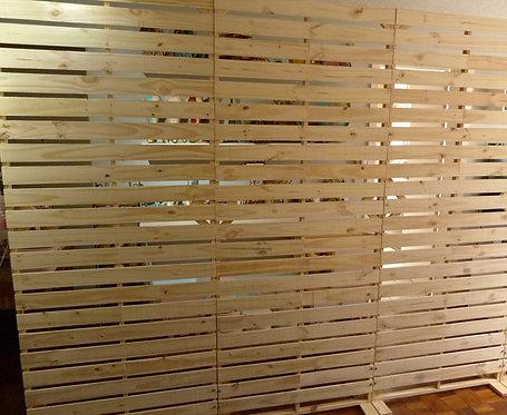 Painel - Pallets - Vazado - Cru - 2,20m x 2,70m - Desmontável