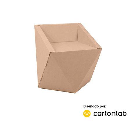 Silla de cartón modelo Faceta | Diseño contemporáneo y exclusivo | Pack 2 uds.