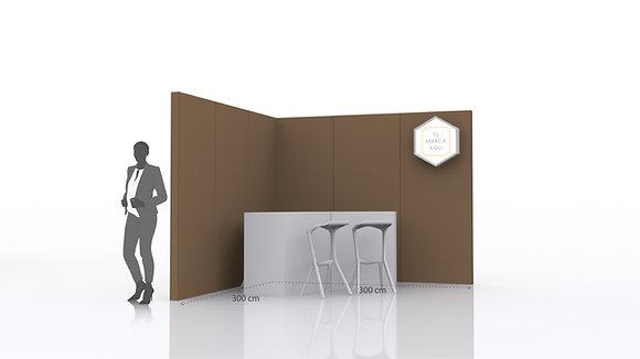 Stand Básico para eventos | Incluye paredes, mostrador  y espacio para gráfica