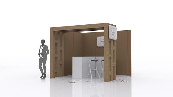Stand Servicio para eventos | Incluye paredes, mostrador  y espacio para gráfica