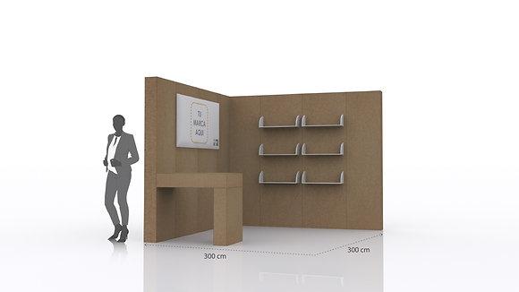 Stand Retail para eventos | Incluye paredes, mostrador  y espacio de exhibición