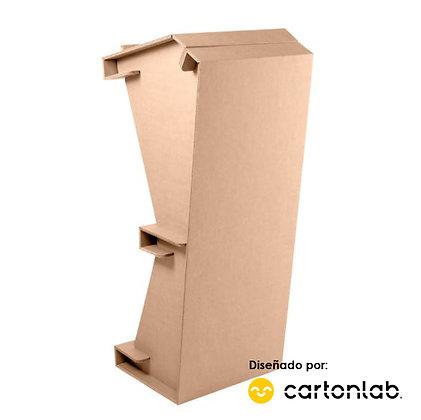 Atril de cartón para conferencias y eventos. Ligero y desmontable.