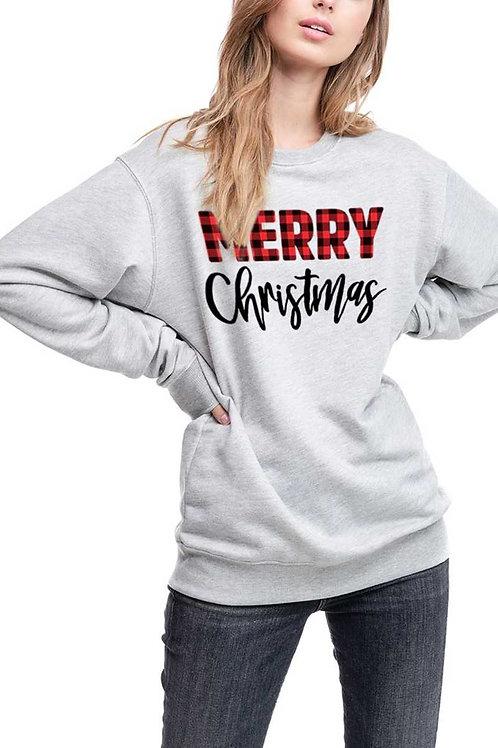 Merry Christmas Graphic Sweatshirt Top
