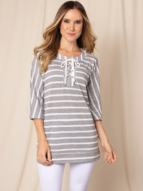 Simply Noelle Sunrise Sail Striped Top
