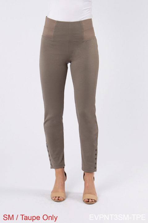 Simply Noelle Ponte Straight Button Pants