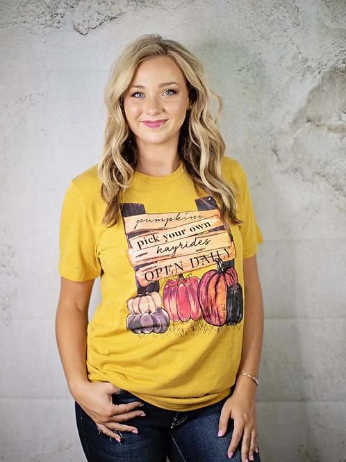 Pumpkin Patch Sign Plus Mustard