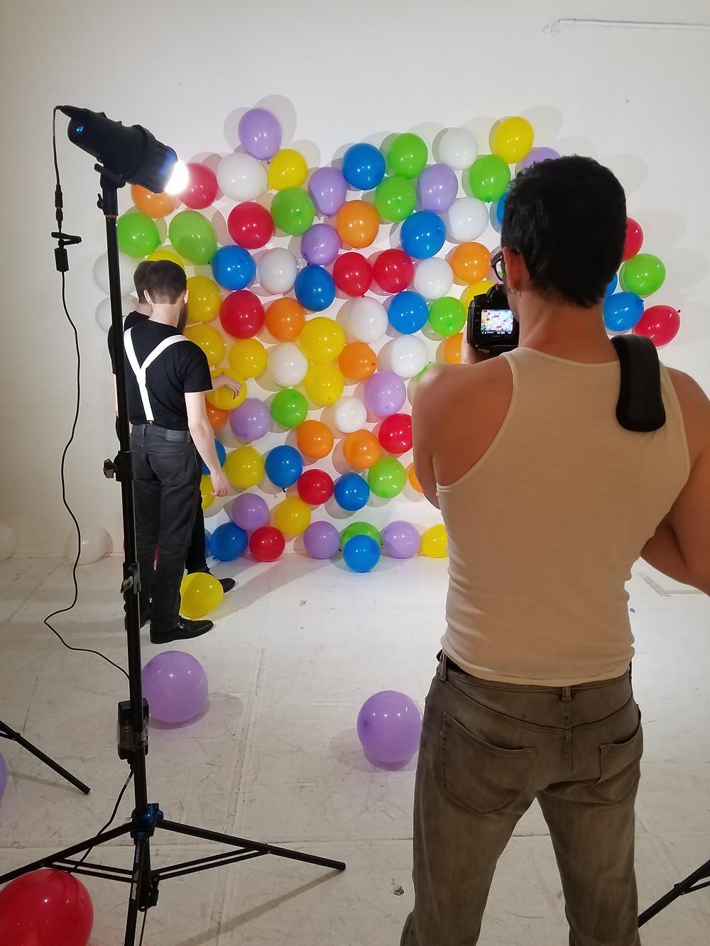 Bradman, the Balloon Wall, Tim Basom and Zach Simao
