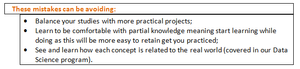 Balance your studies with more practical projects