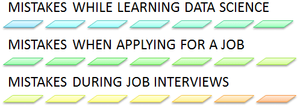 Common nine mistakes people make while learning data science