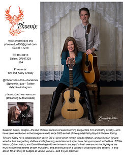 One sheet tells you everything you need to know about Phoenix.  For larger version please email phoenixduo135@gmail.com