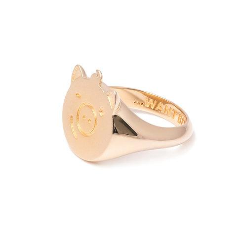 """""""Gold Pigger"""" Ring"""
