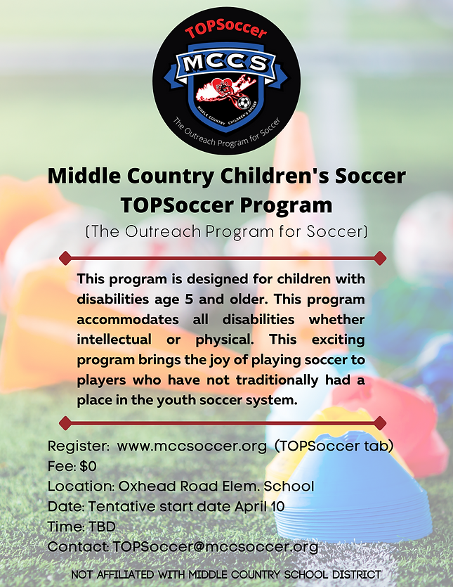 Middle Country Children's Soccer TopSocc