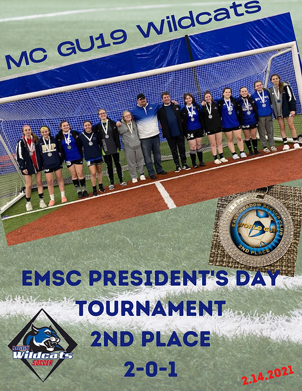 EMSC President's Day Tournament 2nd Plac