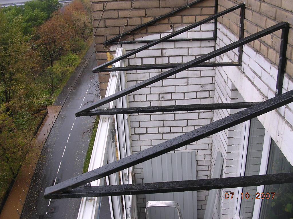 крыша для окон пластиковых на балкон