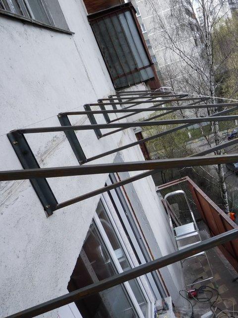 Каркас для крыши на балконе