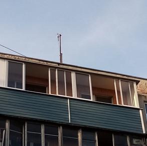 Остекление балкона в серпухове на ул. Центральной.