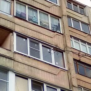 Остекление лоджии 3 метра в Серпухове на ул.Новая 11в.
