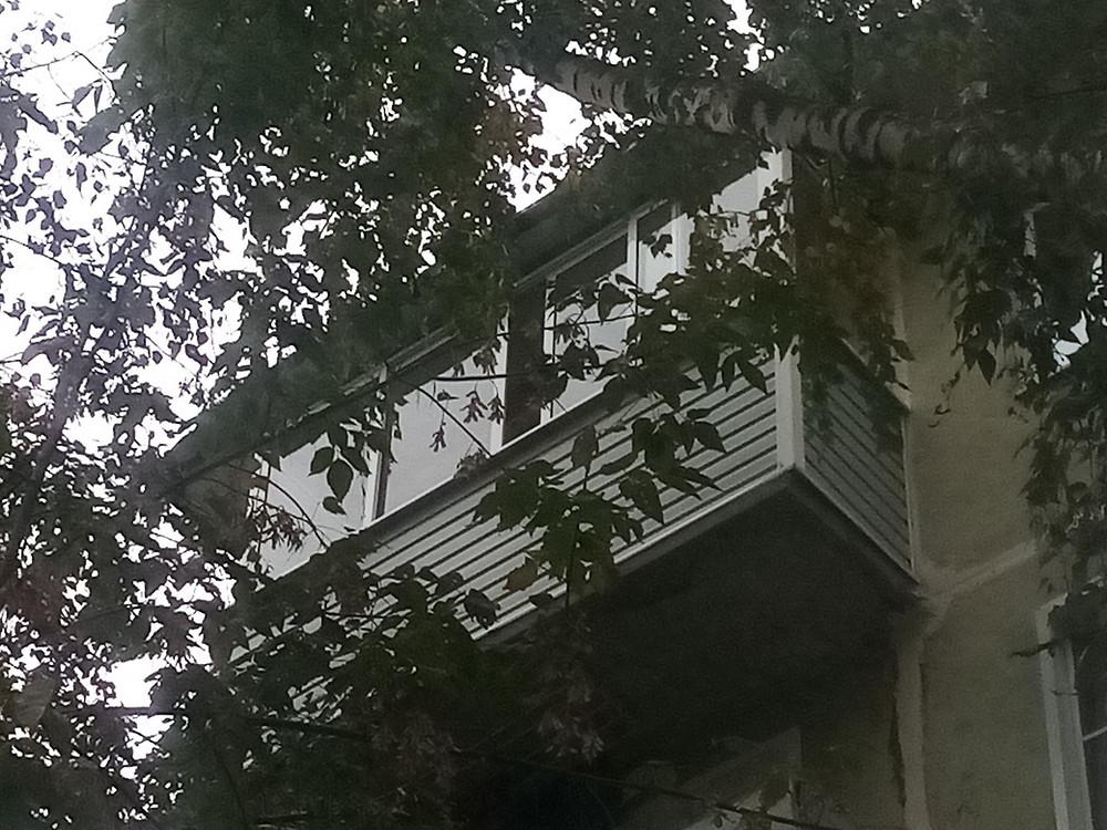 Остекление балкона три метра в Серпухове, ул чернышевского 33