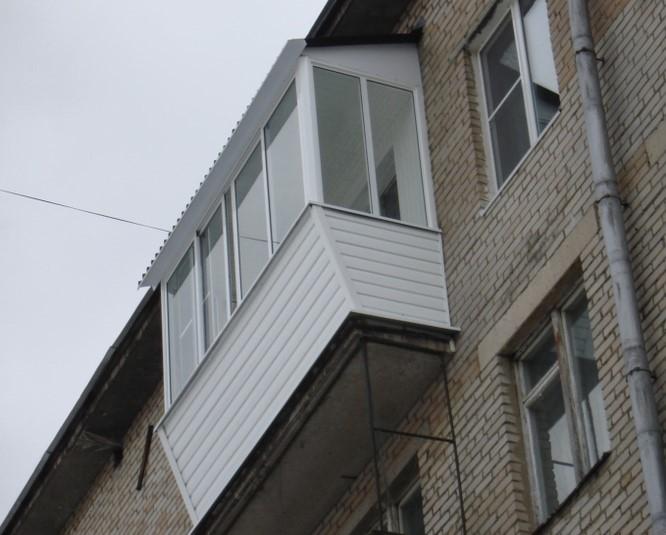 остекление балкона крыша и вынос