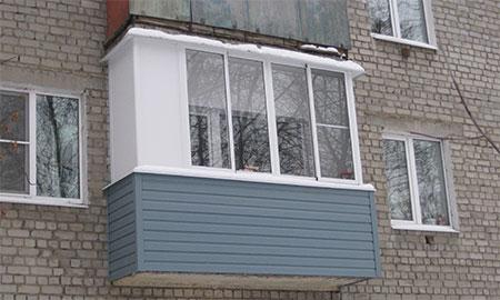 отделка сайдингом балкона хрущевка 3