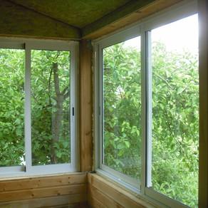 Остекление балкона и установка окон ПВХ в частном доме
