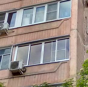 Остекление лоджии 3 метра в Серпухове на ул.Новая 11б.