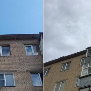 Остекление балкона 2 метра в Серпухове, п.Большевик ул.Ленина