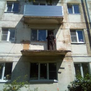 Остекление балкона 3 метра в Хрущевке под ключ от А до Я.