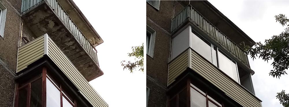 Остекление балкона раздвижными окнами в Серпухове