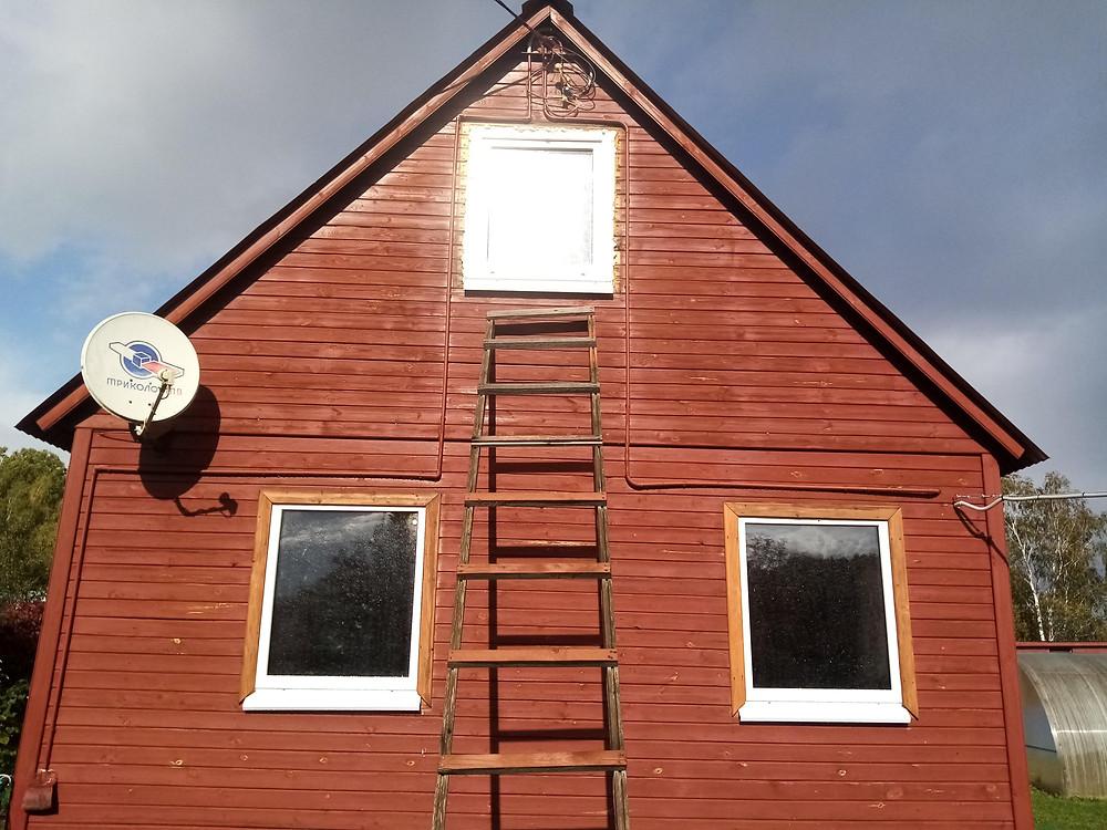 Установка пластиковых окон ПВХ в дачном домике (Большая городня)