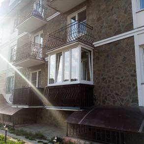 Остекление балкона в Серпухове на ул.Весенней 61