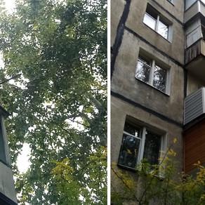 Внешняя отделка балкона в хрущевке сайдингом без остекления