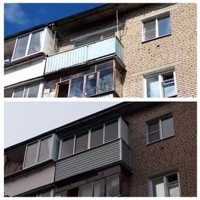 Остекление балкона три метра в Серпухове на ул. ПУШЕЧНАЯ