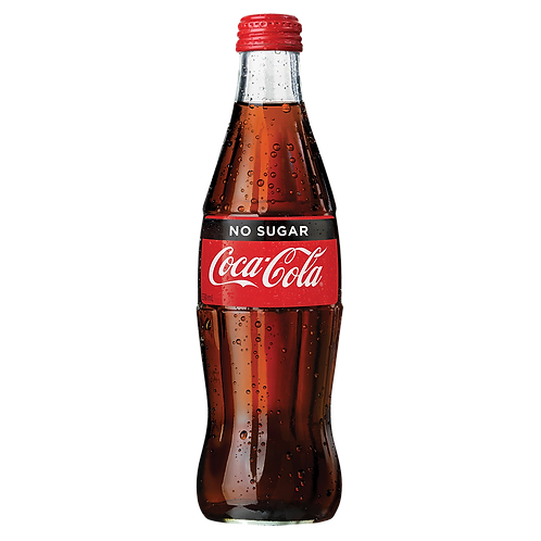 Coke No Sugar 330mL Glass Bottle
