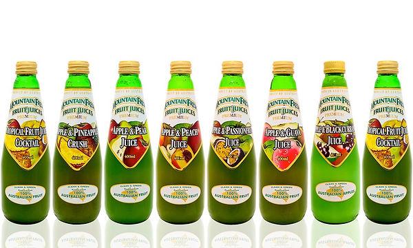 Mountain fresh juice range supplied by AIDA
