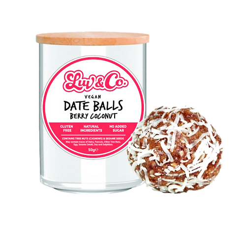 Luv Sum Date Balls - Berry Coconut