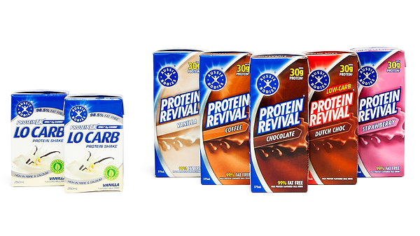Protein revival Beverage range supplied by AIDA
