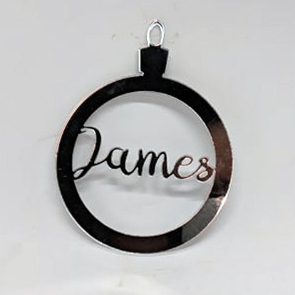 Personalised Christmas Baubles - Mirror