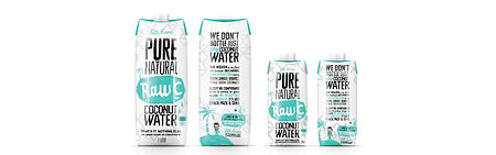 Raw C Coconut water range supplied by AIDA