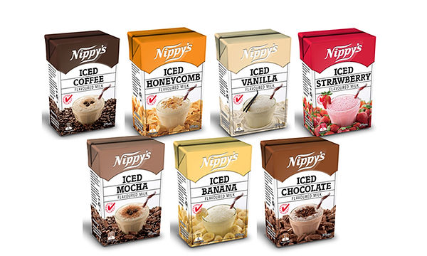 Nippy's flavoured milk range supplied by AIDA