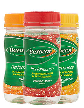 Berocca energy drink range supplied by AIDA