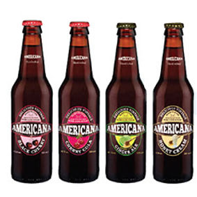 Americana soft drinks range supplied by AIDA