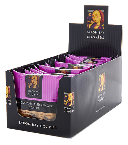 Byron Bay Cookies Singles Sticky Date & Ginger
